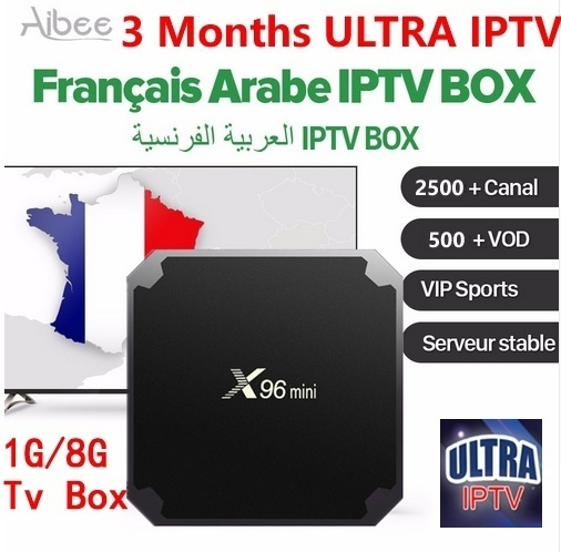 X96mini Android TV Box Arabic IPTV 3 months ULTRA IPTV subscription Sports  IT UK DE French European 2500+Live channels