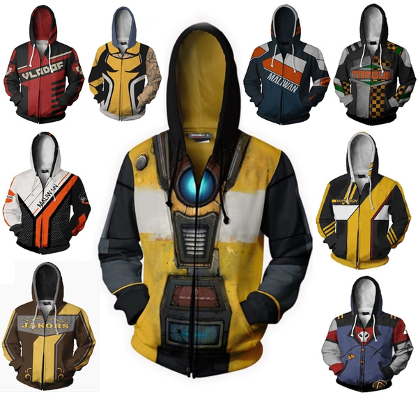 HOT Game Borderlands Zero hoodie Sweatshirt Cosplay Costume zip up coat jacket