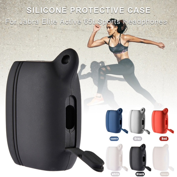 Silicone Case Cover Flexible Scratch Shock Resistant For Jabra Elite Active 65t Wish