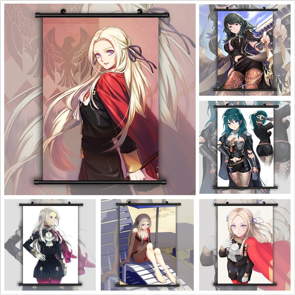 Fire Emblem Three Houses Edelgard Anime Wall Poster Scroll Home Decor Cosplay