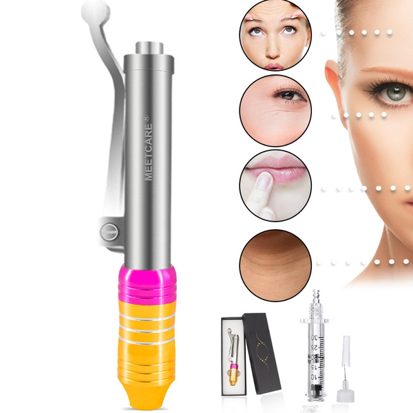 Professional Noninvasive Nebulizer Injection Pen Hylauronic Acid Micro  Injector Hyaluron Pen Gun Non Invasive Wrinkle Removal Water Syringe  Injection