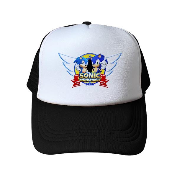 1f9f83418 Cute Boy Sonic The Hedgehog Cartoon Adjustable Baseball Hat Cap For Boys