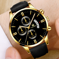 Steel, Outdoor, leather strap, Watch