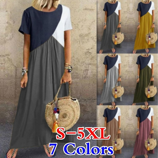 Plus Size, Sleeve, Irregular, women dresses