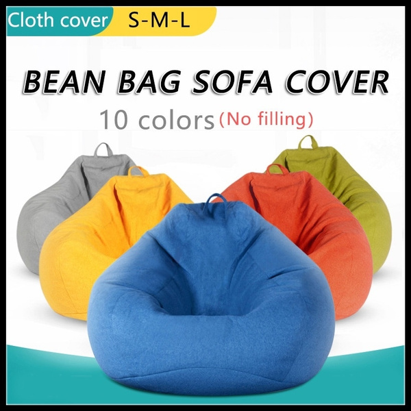 Admirable Large Bean Chair Bag Sofa Cover Lounger Chair Sofa Ottoman Seat Living Room Furniture Without Filler Beanbag Bed Pouf Puff Couch Tatam No Filling Camellatalisay Diy Chair Ideas Camellatalisaycom
