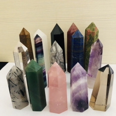 Beautiful, crystalpoint, polished, obelisk