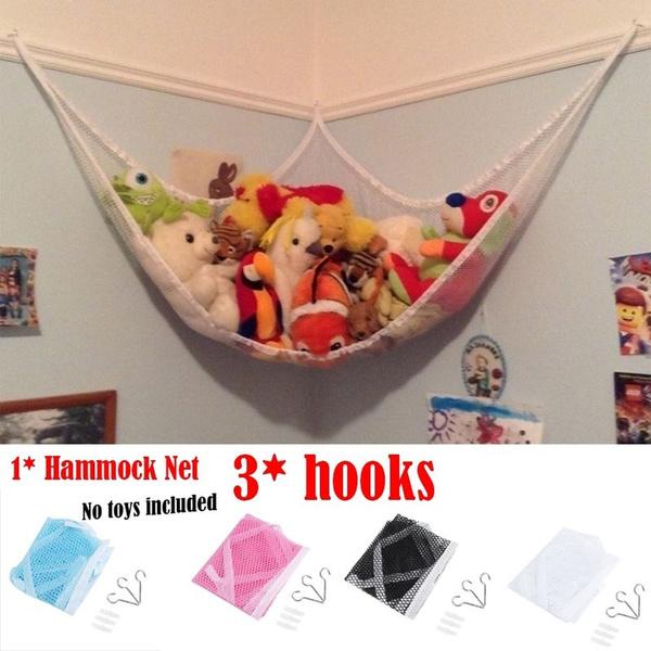 JUMBO Toy Hammock Net Organizer Stuffed Animals Hanging Storage Kids Toys S//M//L