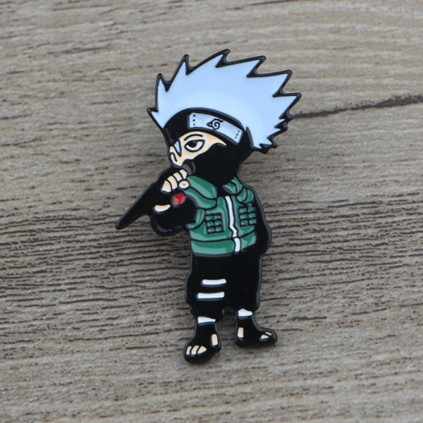 C575 Funny Kakashi Metal Enamel Pins and Brooches for Women Fashion Lapel  Pin Backpack Bags Badge Gifts