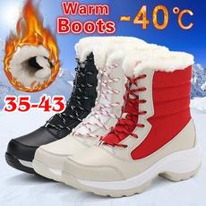 ankle boots, Plus Size, Platform Shoes, Winter