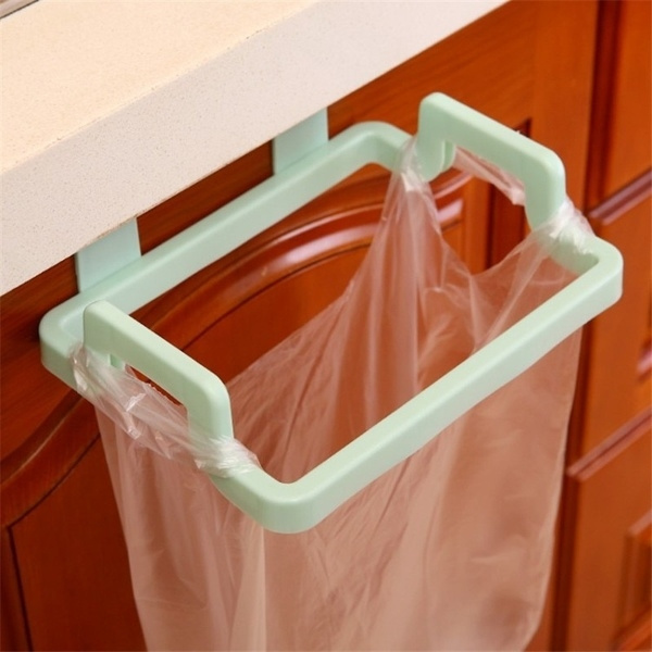 Trash Garbage Bags Support Holder Kitchen Door Back Hanging Style Cabinet Stand