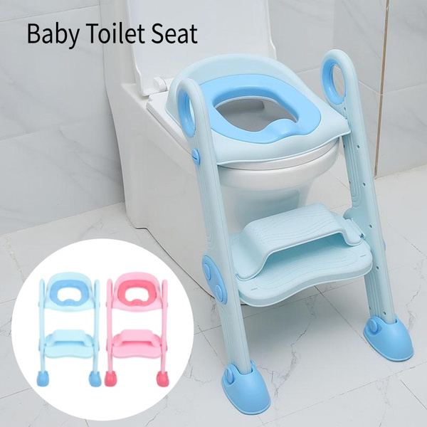 Awe Inspiring 1Pc Folding Toddler Toilet Chair Kids Potty Training Seat With Step Stool Ladder Spiritservingveterans Wood Chair Design Ideas Spiritservingveteransorg