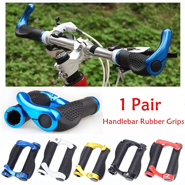 1Pair Mountain Bicycle Lock On Handlebar Grips Bike Cycling W// MTB Bar Ends Cool