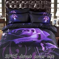 King, bedclothe, duvet, purple