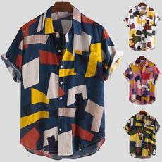 Summer, Short Sleeve T-Shirt, Holiday, Men's Fashion
