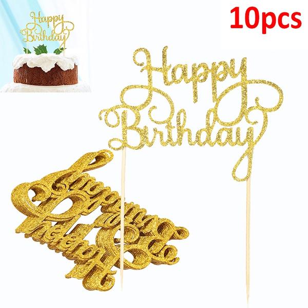 decoration, gold, caketopper, Dessert