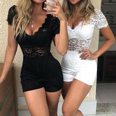 Summer, Shorts, Lace, Sleeve