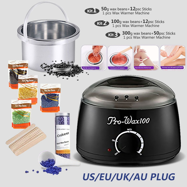 Professional Waxing Hair Removal 500cc Black Kit Electric Oakeer Depilatory Tool Wax Warmer Heater Rapid Melt At Home Waxing For Girls Women Men With Hard Wax Beans Applicator Sticks Wax Warmer Machine