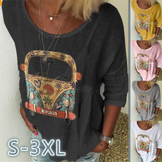 Summer, Plus Size, tunic top, Long Sleeve