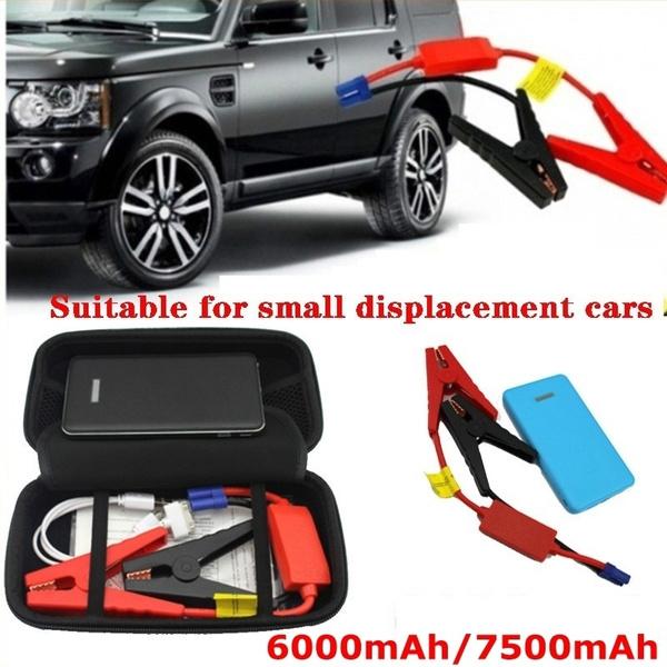 12V Portable 6000mAh/7500mAh Car Jump Starter Emergency Battery Charger  Power Bank Kit Portable Battery Charger Jump Starter