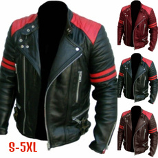 Turn-down Collar, men coat, Plus Size, leathercoatformen