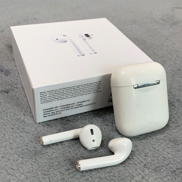 2019 Refurbished Apple MMEF2AM/A AirPods Wireless Bluetooth Earphones with  Charging Case Bluetooth Double ear Earphone