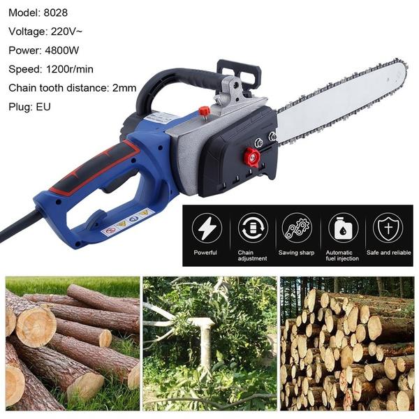 8028 Electric Wood Chainsaw Wood Cutter Heavy Duty Chain Saw 4800W Chainsaw