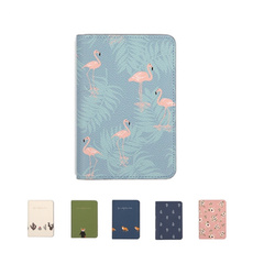 pink, cute, flamingo, card holder