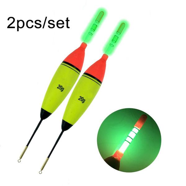 Plastic Luminous Bobber Fishing Night Float Light Stick Eva Foam Ball Boia