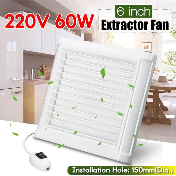 "4/"" Home Fan Bathroom Garage Exhaust Window Wall Mount Kitchen"