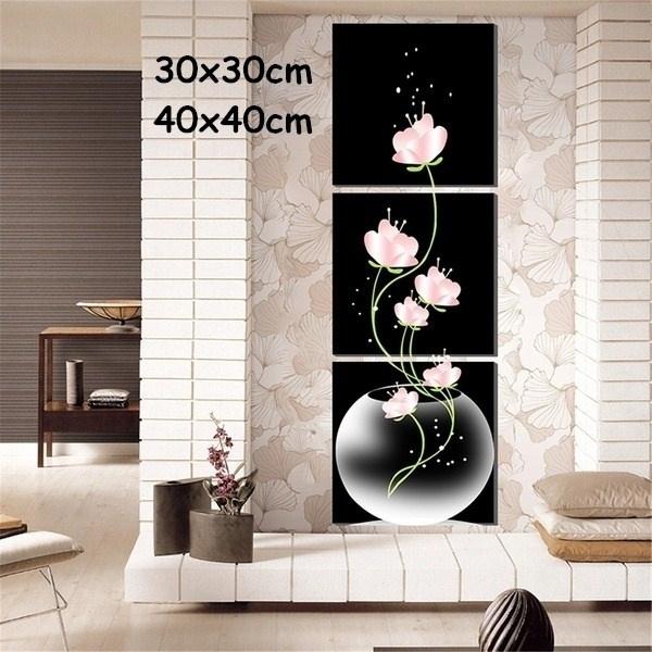 Modern Art Flowers Art Canvas Painting Picture Print Home Wall Decor Unframed