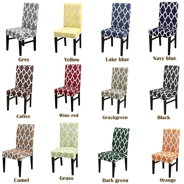 Wish | Pack of 1/2/4 Home Decor  Spandex Chair Cover Dining Chair Covers Spandex Strech Dining Room Chair Protector Slipcover