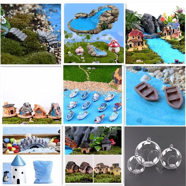 Miniature Fairy Garden Ornament Yard Decor Pots Craft Accessories Dollhouse DIY