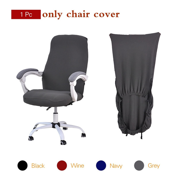 Fabulous Forcheer Computer Chair Cover Swivel Chair Set Elastic Chair Covers For Computer Chair 4 Solid Colors Swivel Chair Seat Cover 1Pc Creativecarmelina Interior Chair Design Creativecarmelinacom