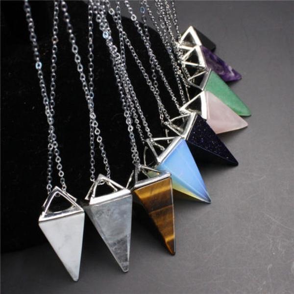 tigerseye, Triangles, Jewelry, pendulum
