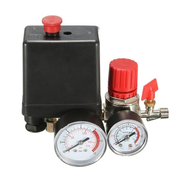 REGULATOR HEAVY DUTY Pump Pressure Air Compressor Control Switch Valve Gauge