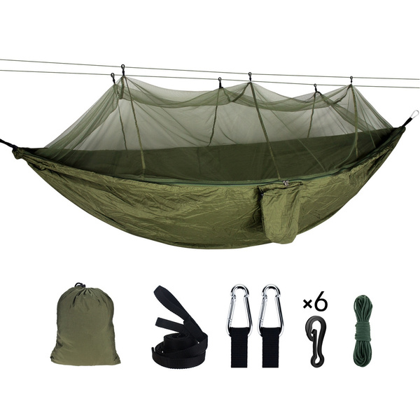 Outdoor Camping Hanging Bed Swing Chair Double Mosquito Net