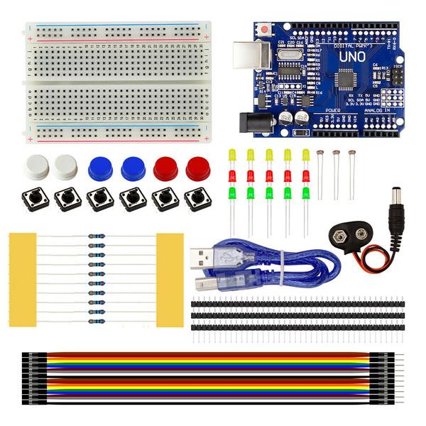 Starter Kit UNO R3 Breadboard Jumper Wire for Arduino Mini Controller ATMEGA328P
