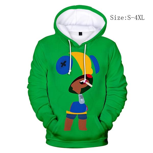 Brawl Stars Leon Cosplay Hoodie 3d Printed Pullover Hooded Sweatshirt Causal Costume