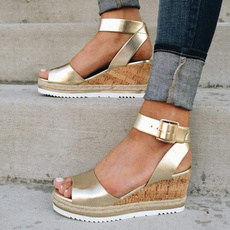 Summer, Plus Size, wedge, fish