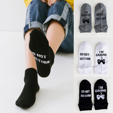 Funny, Cotton Socks, Gifts, letter print