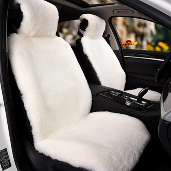Astonishing Universal Wool Car Seat Cover Faux Fur Imitation Wool Sheepskin Fur Car Seat Coverscushion Pabps2019 Chair Design Images Pabps2019Com