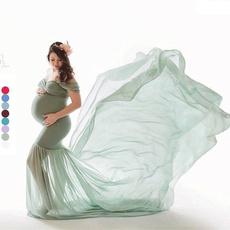 Maternity Dresses, Summer, strapless, Tail