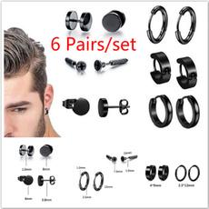 mensearstud, Steel, Stud, Hoop Earring