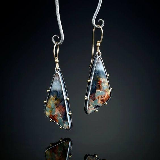 amber, Silver Jewelry, Flowers, Jewelry