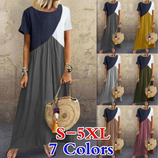 Plus Size, Sleeve, Irregular, women dresses