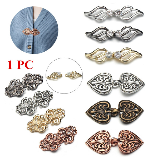 Winter Retro Sewing Clip Clasps Cardigan Clip Shawl Brooch Sweater Blouse Pin