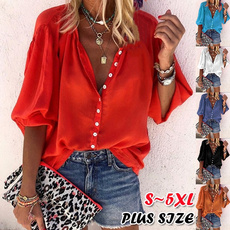 blouse, fashion women, Plus Size, 34sleeve