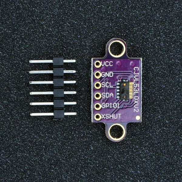 1X I2C IIC VL53L0X Time-of-Flight ToF Ranging Sensor 940nm Laser Distance Module