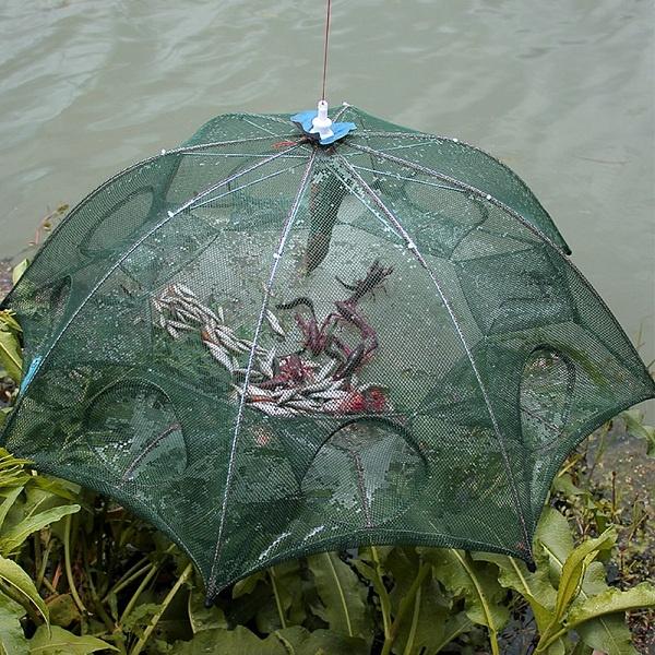 Portable Folding Fishing Shrimp Net Minnow Crayfish Crab Bait Cast Mesh Trap NEW