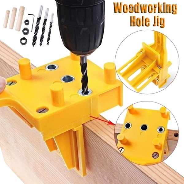 New Woodworking Tool Handheld Drill Guide Hole Saw Tools Woodworking Dowelling Jig Drill Bits